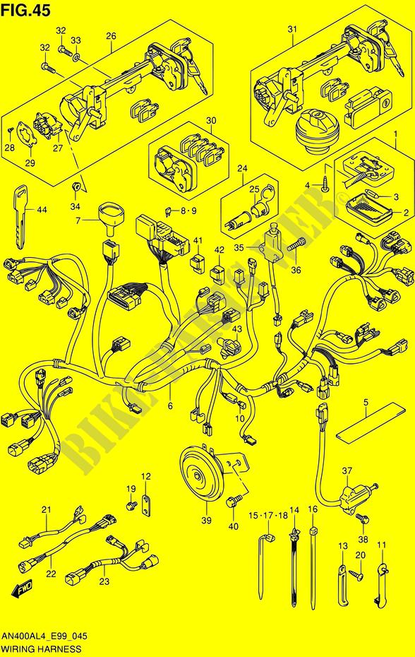 Suzuki Burgman Motorcycle Wiring Diagram 2009 from www.bike-parts-suz.com