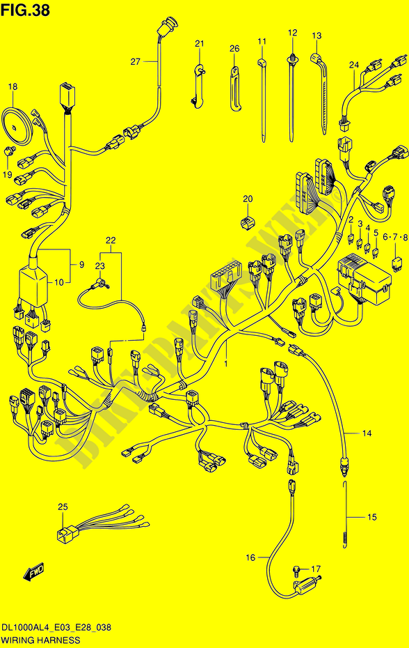 Wiring Harness Dl1000al4 E33 Electrical Dl1000a L4 E03e28e33 2014 V Rhbikepartssuz: Strom 1000 Wiring Diagram At Gmaili.net