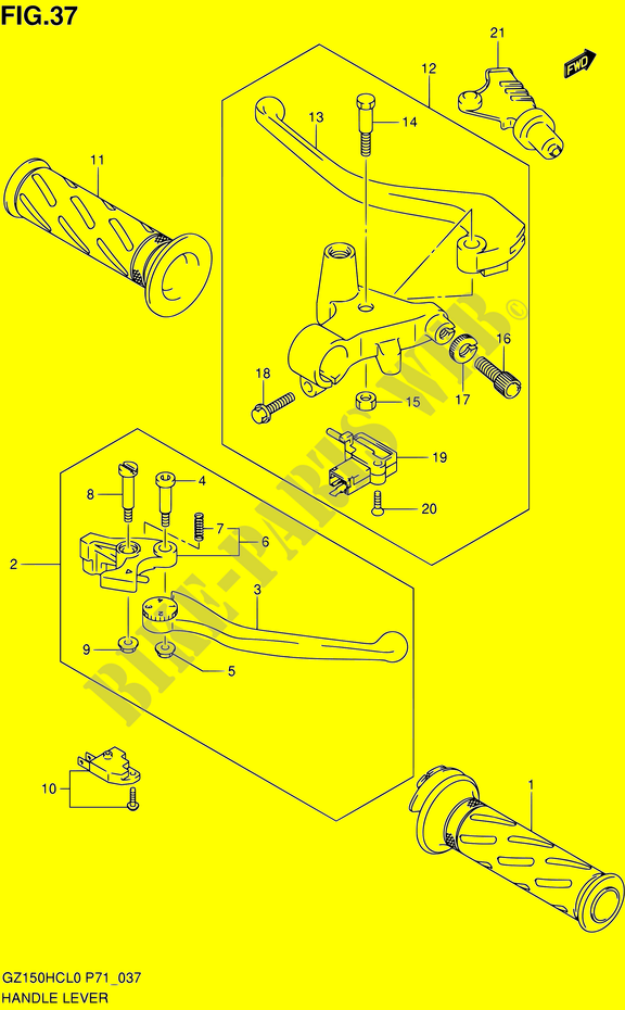 Genuine Suzuki lever bolt 57431-0AE00-000
