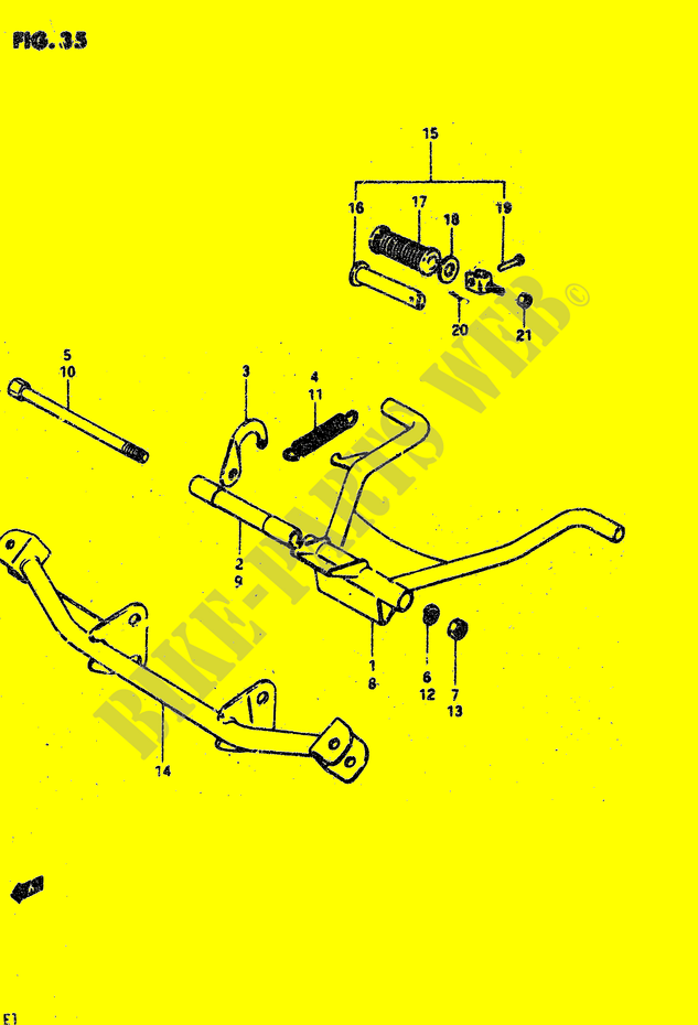 suzuki rv 50 wiring diagram center stand  e18  e22  e39  e41  for suzuki van van 50 1981  center stand  e18  e22  e39  e41  for