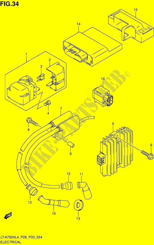 ELECTRICAL Suzuki QUAD 750 KINGQUAD 2014 LT A750X L4 LT A750XZ L4 P03P28P33 11650035 electrical electrical lt a750x l4 lt a750xz l4 p03p28p33 2014