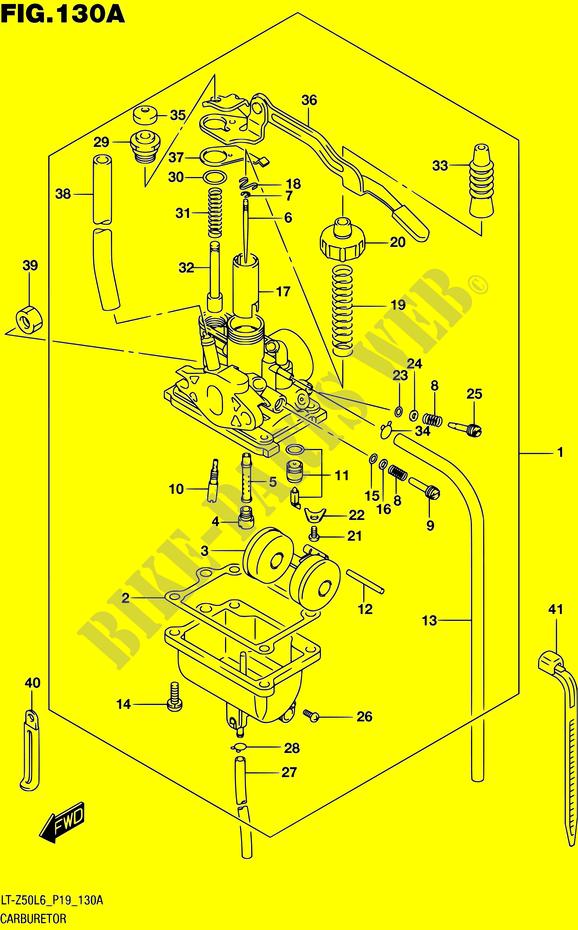 carburetor engine transmission lt z50 l6 p19 2016 quadsport 50 atv rh bike parts suz com