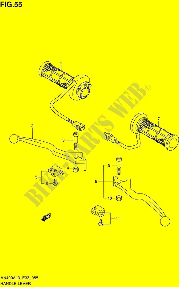Suzuki AN 400 L3 Burgman Front Brake Caliper Repair Seal Kit 2013