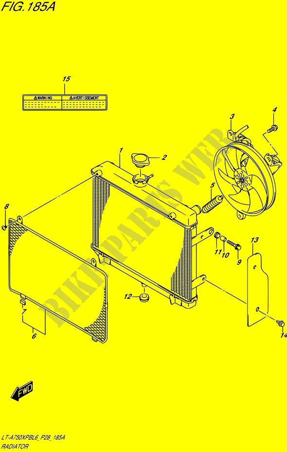 Radiator For Suzuki Kingquad 750 2016 Suzuki Motorcycles Genuine Spare Parts Catalog