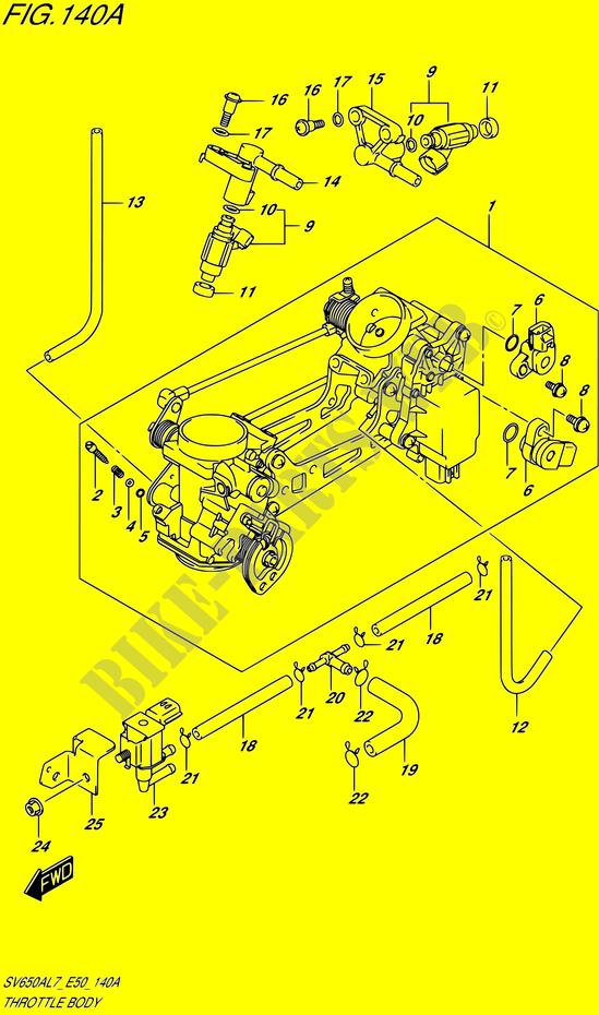 suzuki moto 650 sv 2017 sv650a l7 (e50) engine/transmission throttle body