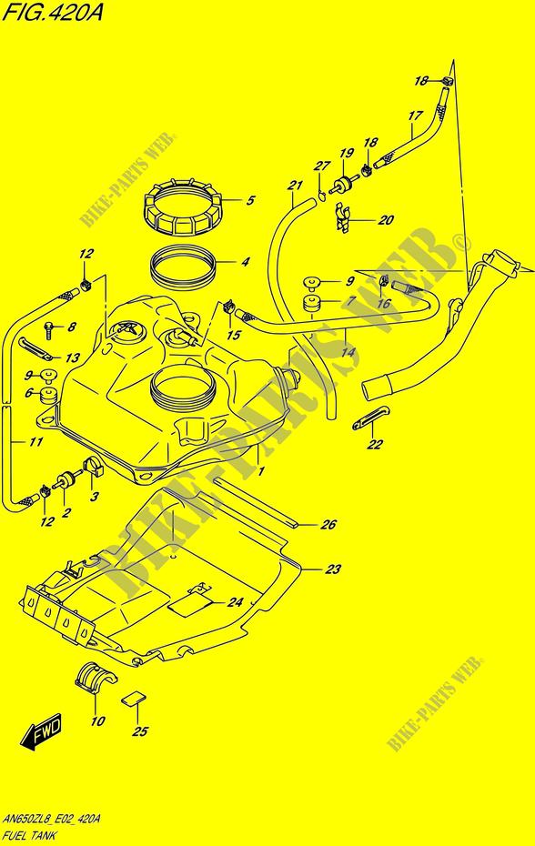Suzuki 2005-2011 Burgman 650 Sensor Water Te 13650-10G00 New Oem