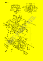 CRANKCASE for Suzuki GSX-F 1100 1990