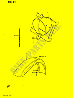 FRONT FENDER -HEADLAMP HOUSING  PE175E E 1984 Motorcycle Suzuki microfiche diagram
