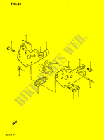CHAIN GUIDE  PE175E E 1984 Motorcycle Suzuki microfiche diagram