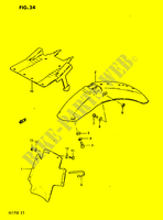 REAR FENDER  PE175E E 1984 Motorcycle Suzuki microfiche diagram