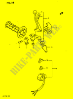 LEFT HANDLE SWITCH  PE175E E 1984 Motorcycle Suzuki microfiche diagram