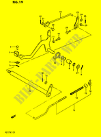 REAR BRAKE  PE175E E 1984 Motorcycle Suzuki microfiche diagram
