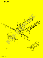 REAR SWINGING ARM  PE175E E 1984 Motorcycle Suzuki microfiche diagram