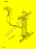 SHOCK ABSORBER  PE175E E 1984 Motorcycle Suzuki microfiche diagram