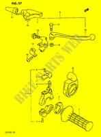 RIGHT HANDLE SWITCH  PE175E E 1984 Motorcycle Suzuki microfiche diagram