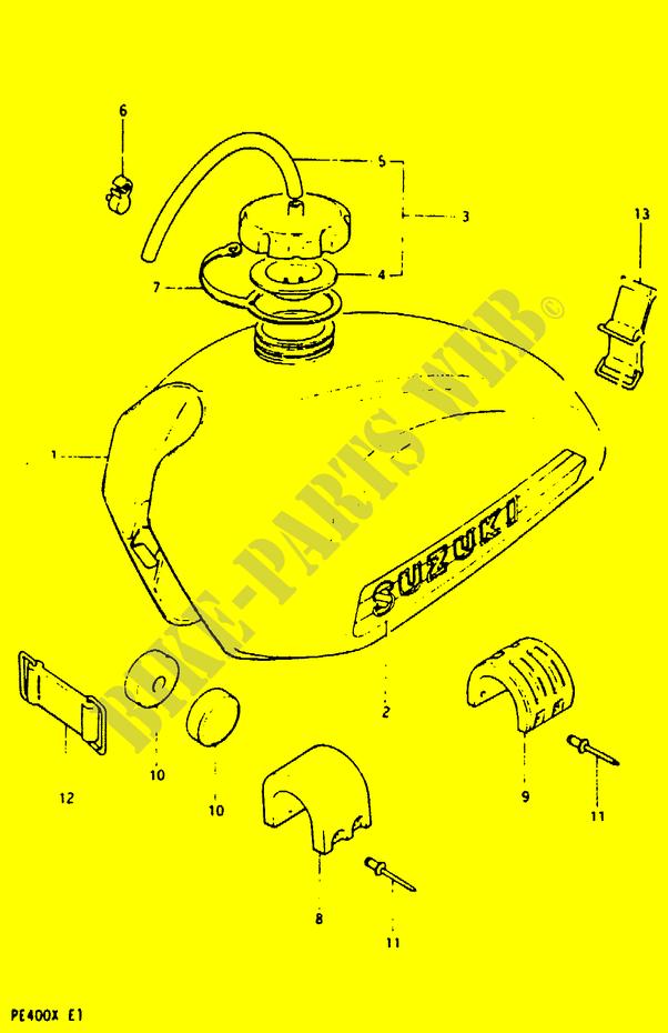 Fuel Tank Pe400xe2 Body Frame Pe400x T X 1999 Pe 400 Moto Suzuki. Suzuki Moto 400 Pe 1999 Pe400xtx Bodyframe Fuel Tank. Suzuki. Suzuki Pe400 Wiring Diagram At Scoala.co