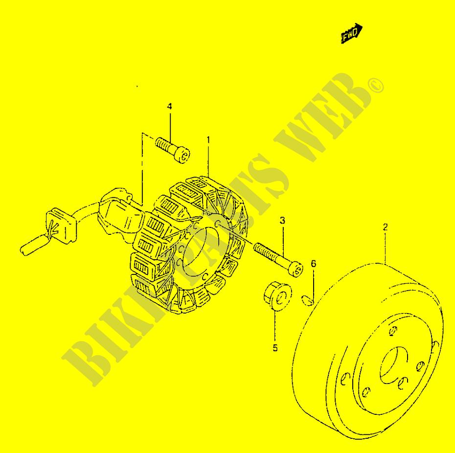 suzuki moto 125 marauder 2000 gz125y(w/x/y) electrical ignition