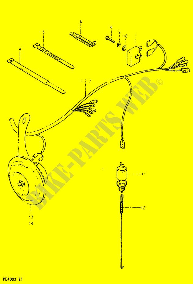 Wiring Harness Electrical Pe400x T X 1999 Pe 400 Moto Suzuki. Suzuki Moto 400 Pe 1999 Pe400xtx Electrical Wiring Harness. Suzuki. Suzuki Pe400 Wiring Diagram At Scoala.co
