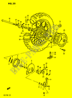 REAR WHEEL  PE175E E 1984 Motorcycle Suzuki microfiche diagram