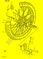 FRONT WHEEL  PE175E E 1984 Motorcycle Suzuki microfiche diagram