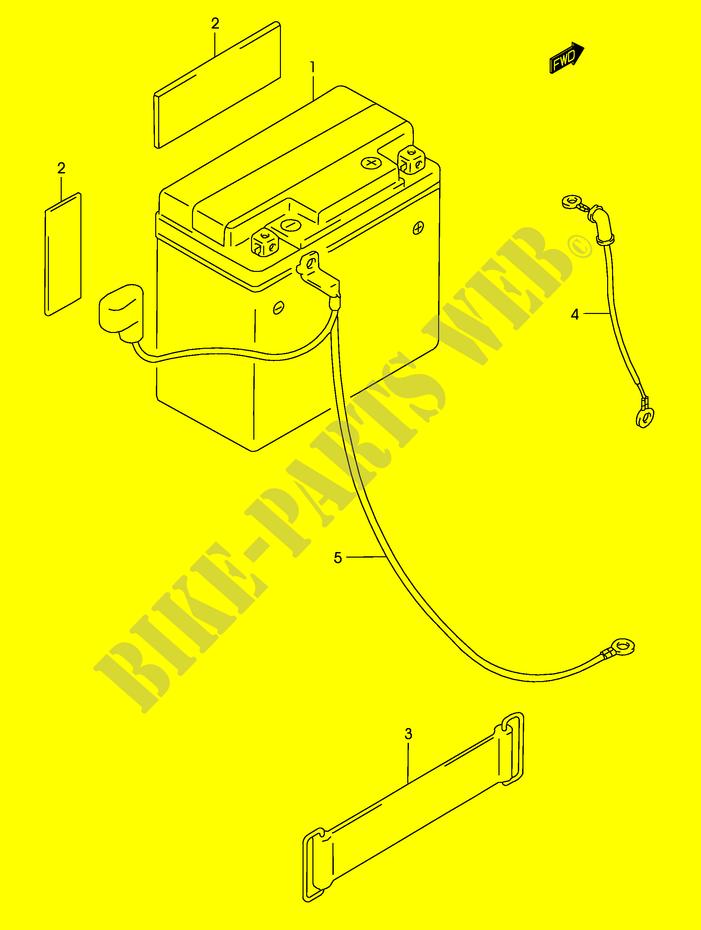 BATTERY for Suzuki 2002 # SUZUKI MOTORCYCLES - Genuine Spare Parts on