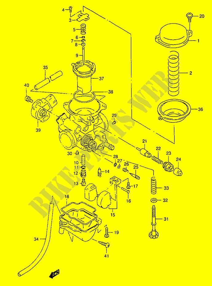 Carburetor Model Y Engine Transmission Gz125x W X Y 1999 Marauder