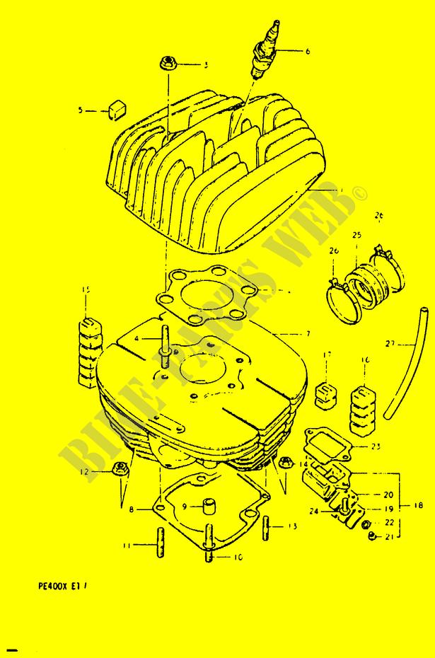 Cylinder Engine Transmission Pe400t T X 1996 Pe 400 Moto Suzuki. Suzuki Moto 400 Pe 1996 Pe400ttx Engiransmission Cylinder. Suzuki. Suzuki Pe400 Wiring Diagram At Scoala.co
