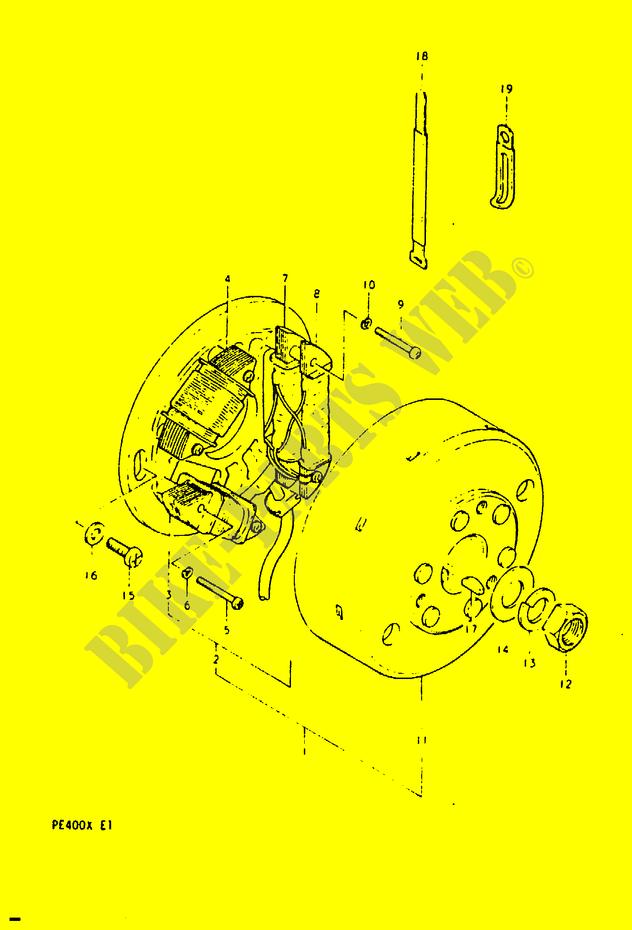 Ignition E2 E6 E24 Electrical Pe400t T X 1996 Pe 400 Moto Suzuki. Suzuki Moto 400 Pe 1996 Pe400ttx Electrical Ignition E2. Suzuki. Suzuki Pe400 Wiring Diagram At Scoala.co