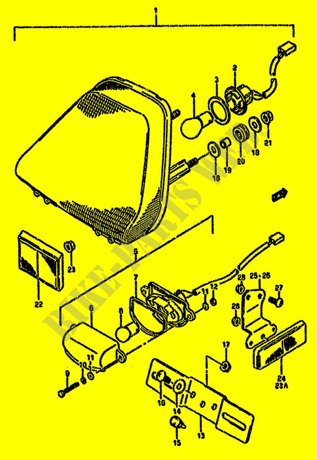 Tail Light For Suzuki Gsx