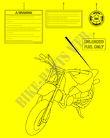 LABEL for Suzuki JR 50 2003
