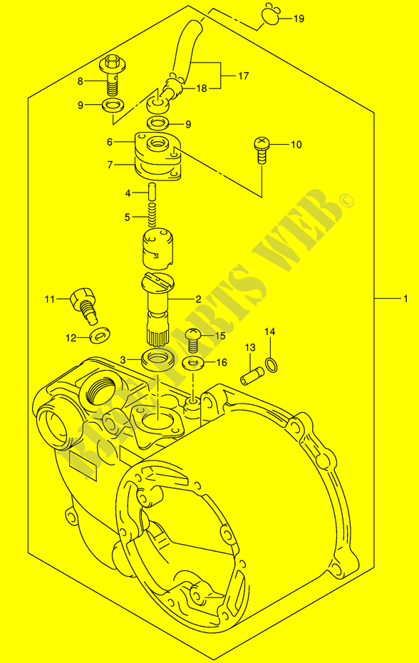 Suzuki Moto 50 Jr 2005 Jr50k5p3p28 Enginetransmission Clutch Cover: Suzuki Jr50 Engine Diagram At Hrqsolutions.co