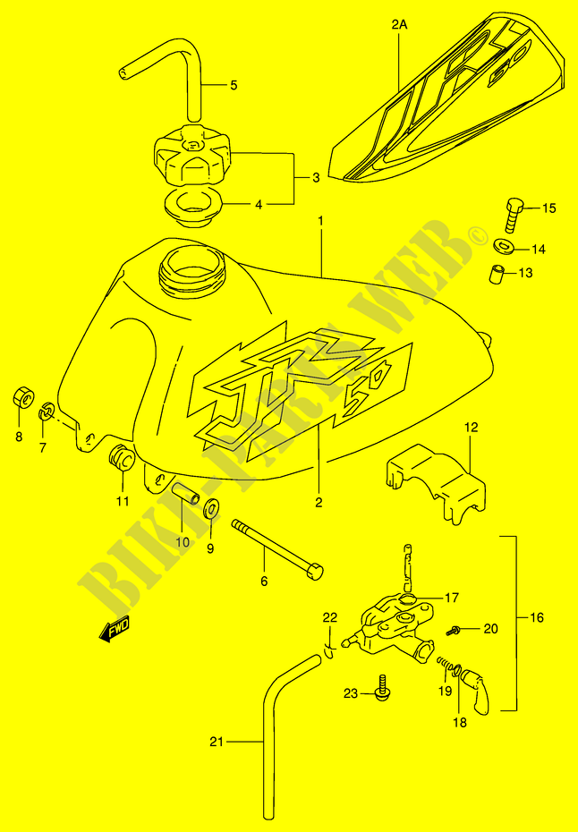 Suzuki Moto 50 Jr 1999 Jr50xp3p28 Bodyframe Fuel Tank: Suzuki Jr50 Engine Diagram At Hrqsolutions.co