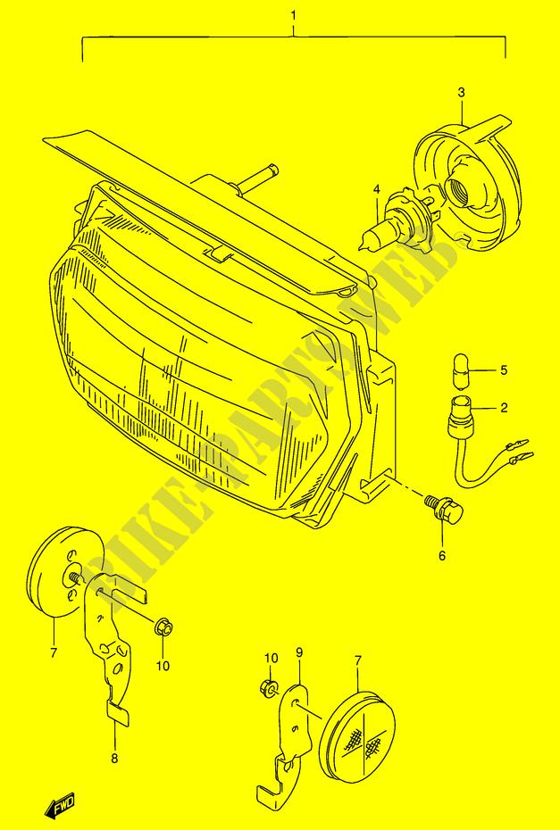 Headlight For Suzuki Gsx