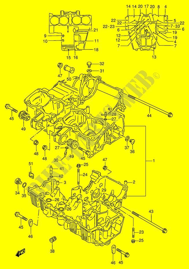 Crankcase For Suzuki Gsx
