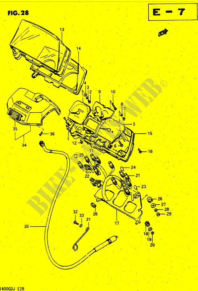 SPEEDOMETER for Suzuki 1986 # SUZUKI MOTORCYCLES - Genuine