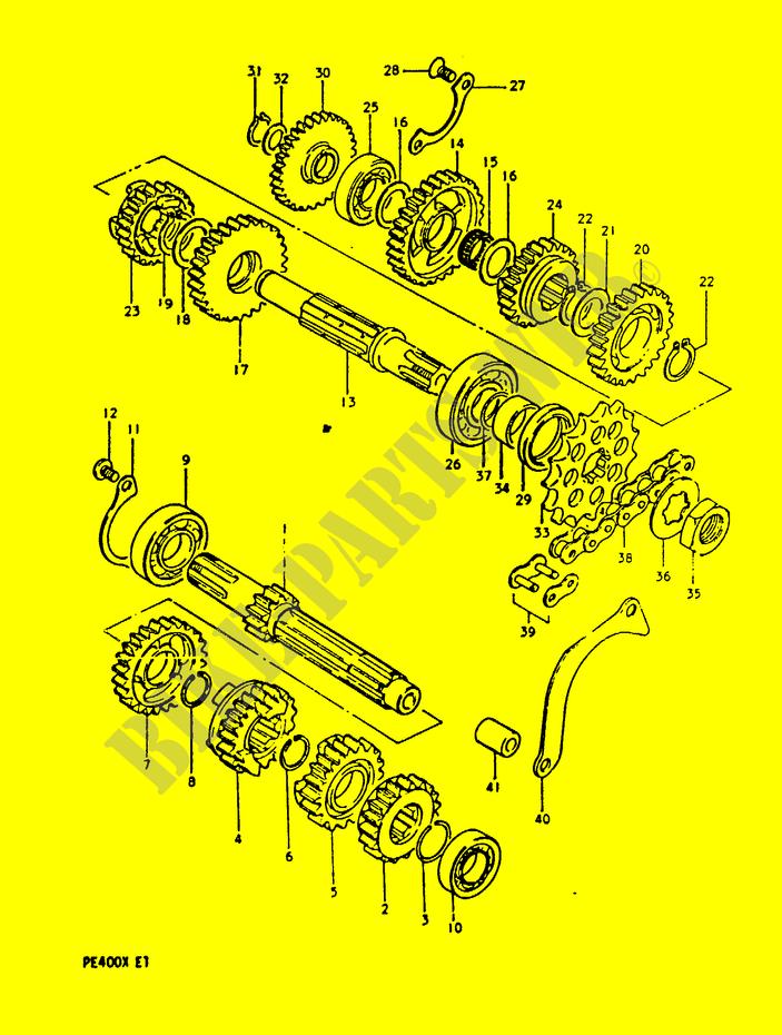 Transmission Engine Pe400x T X 1999 Pe 400 Moto Suzuki. Suzuki Moto 400 Pe 1999 Pe400xtx Engiransmission Transmission. Suzuki. Suzuki Pe400 Wiring Diagram At Scoala.co