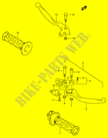 HANDLE LEVER  RF900RR(E2) R 1994 Motorcycle Suzuki microfiche diagram