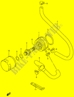 OIL COOLER - OIL FILTER  RF900RR(E2) R 1994 Motorcycle Suzuki microfiche diagram