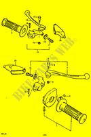 HANDLE GLIP   LEVER (RM125N) for Suzuki RM 125 1979