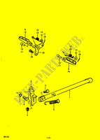 STAND   FOOTREST for Suzuki RM 125 1979