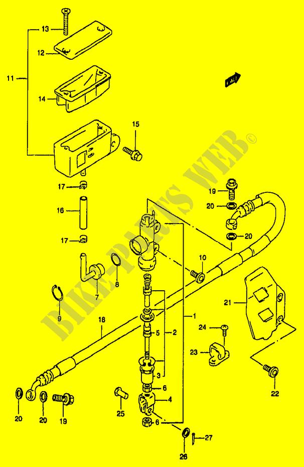 Rear Brake Master Cylinder For Suzuki Rm 250 1996 Suzuki Motorcycles Genuine Spare Parts Catalog