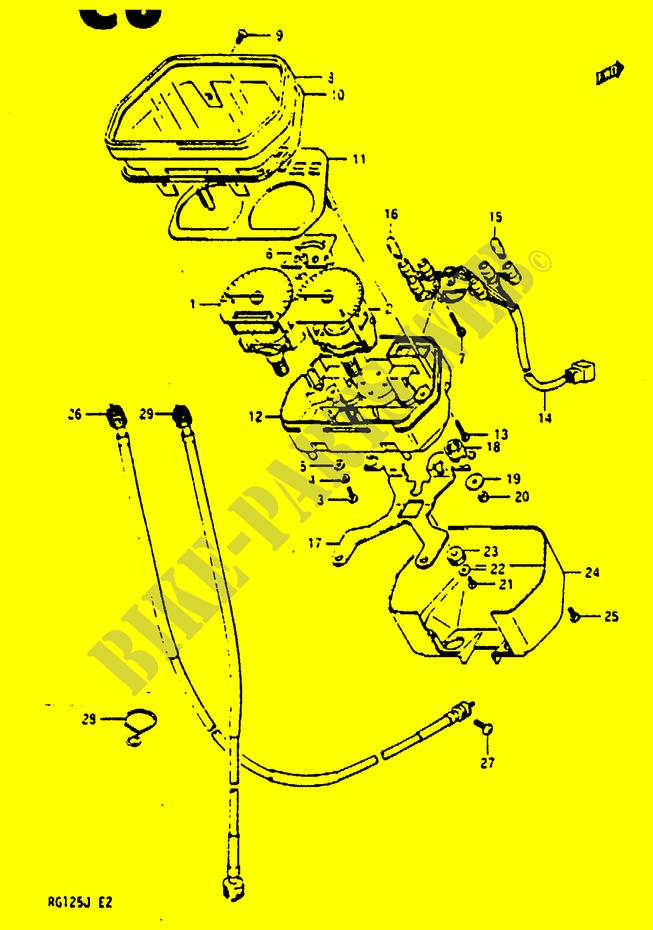 Suzuki Moto 125 Rg 1988 Rg125ajghj Electrical Speedometer: Suzuki Rg 125 Wiring Diagram At Mazhai.net