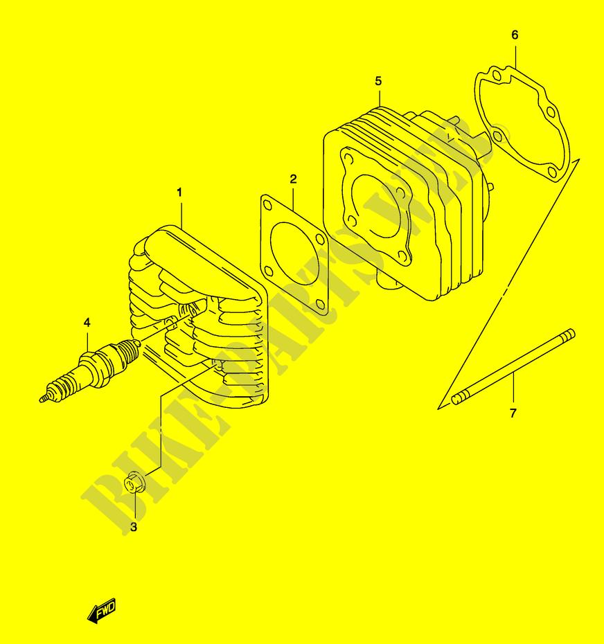 cylinder (model ay50 k3 k4) for suzuki 2001 suzuki suzuki jimny katana suzuki katana headlight wiring wiring
