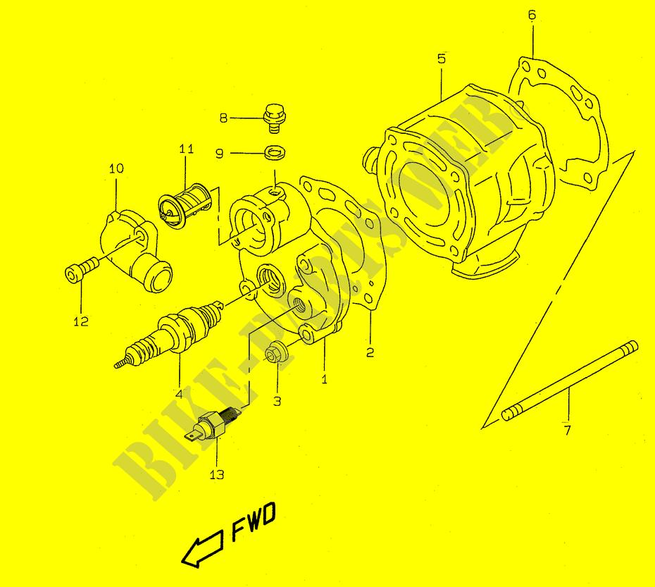 katana engine diagram wiring diagram directory suzuki jimny katana cylinder (model ay50 k3 k4) for suzuki