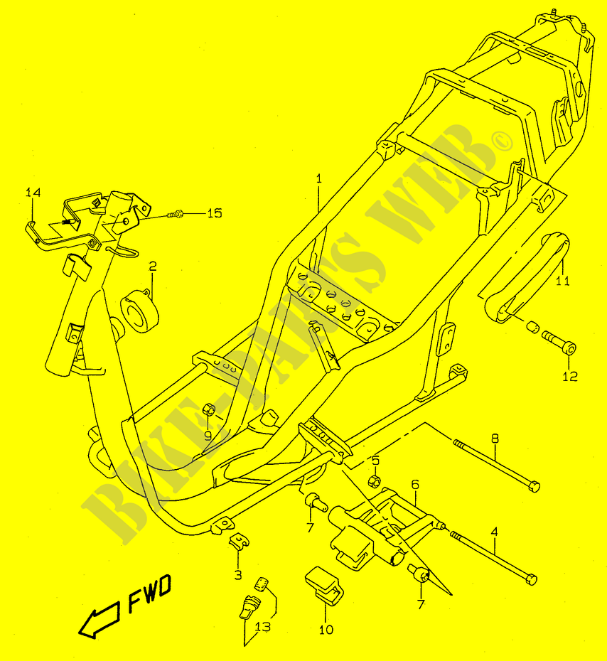 Frame Model K1 Body Ay50v V W X Y 1997 Katana 50 Scooter Engine Diagram Suzuki Ay50vv