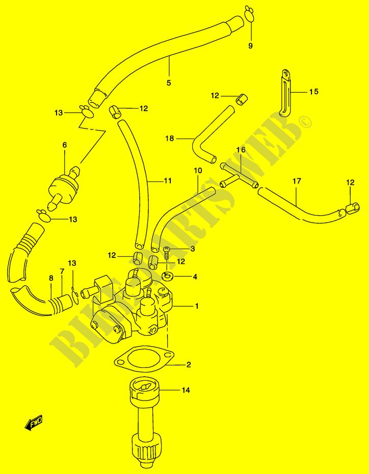 suzuki scooter 50 katana 2001 ay50wrk1(p19) engine/transmission oil pump  (see