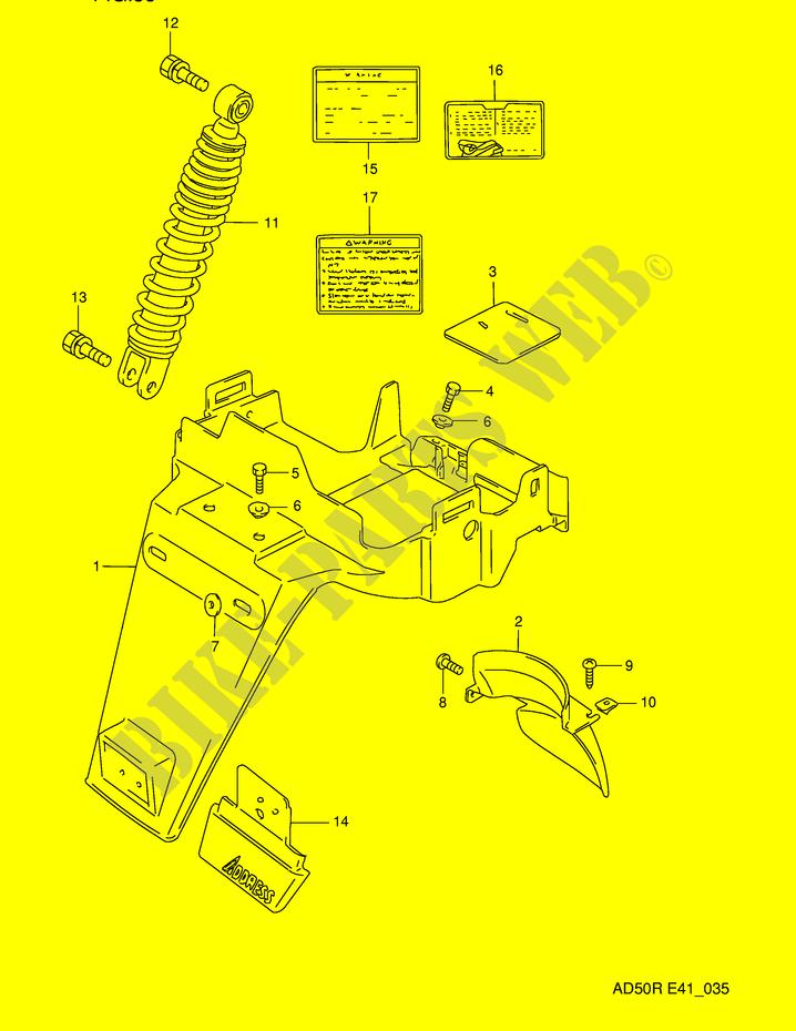 1994 Rear Body Diagram Data Schema
