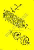 CLUTCH for Suzuki RM 125 1979