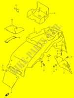 REAR FENDER (MODEL T/ V/ W)  RF900RR(E2) R 1994 Motorcycle Suzuki microfiche diagram