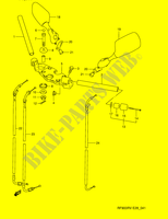 HANDLE BAR  RF900RZS(E28) S 1995 Motorcycle Suzuki microfiche diagram